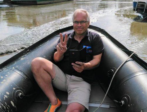 Handbreit Wasser unter dem Kiel